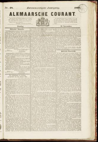 Alkmaarsche Courant 1865-11-26
