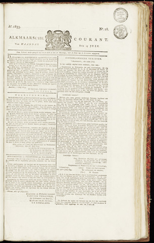 Alkmaarsche Courant 1833-07-15