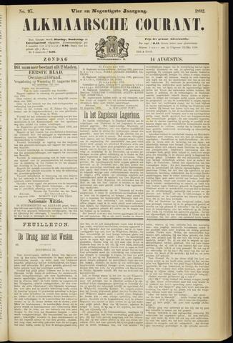 Alkmaarsche Courant 1892-08-14