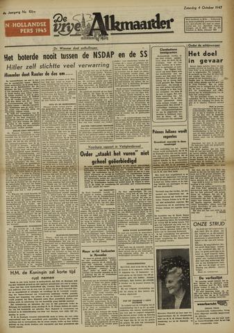 De Vrije Alkmaarder 1947-10-04