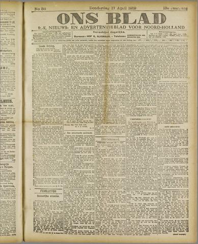 Ons Blad : katholiek nieuwsblad voor N-H 1919-04-17
