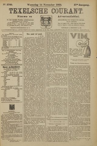 Texelsche Courant 1923-11-14