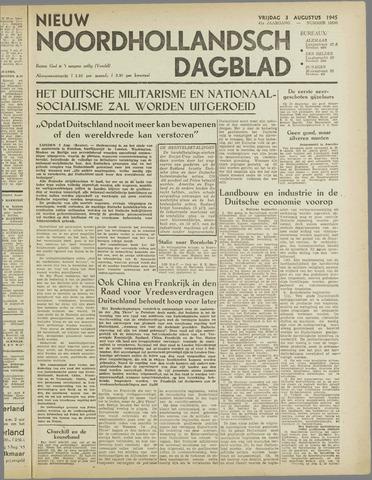 Nieuw Noordhollandsch Dagblad : voor Alkmaar en omgeving 1945-08-03
