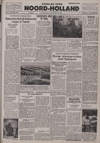 Dagblad Noord-Holland, Schager editie 1942-11-24