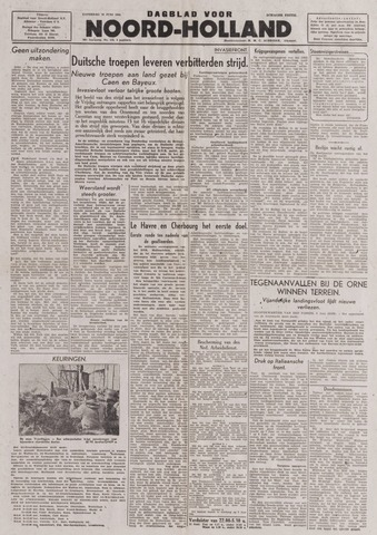 Dagblad Noord-Holland, Schager editie 1944-06-10