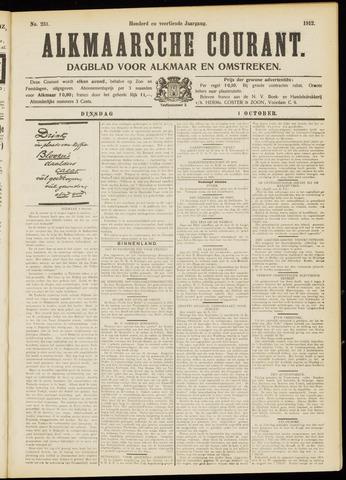 Alkmaarsche Courant 1912-10-01