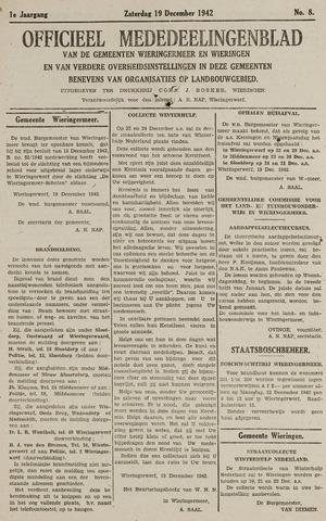 Mededeelingenblad Wieringermeer en Wieringen 1942-12-19
