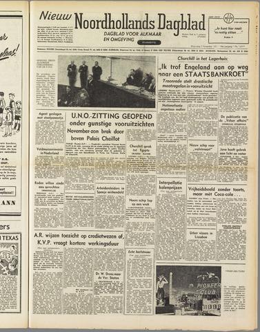 Nieuw Noordhollandsch Dagblad : voor Alkmaar en omgeving 1951-11-07