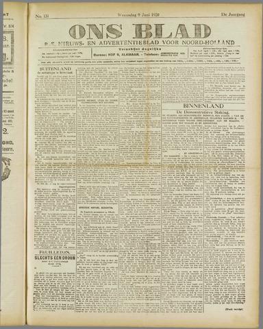 Ons Blad : katholiek nieuwsblad voor N-H 1920-06-09