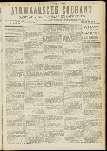 Alkmaarsche Courant 1919-12-22