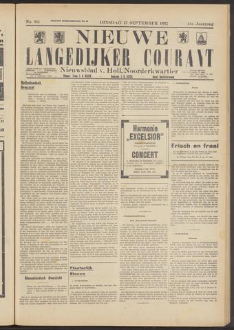Nieuwe Langedijker Courant 1932-09-13