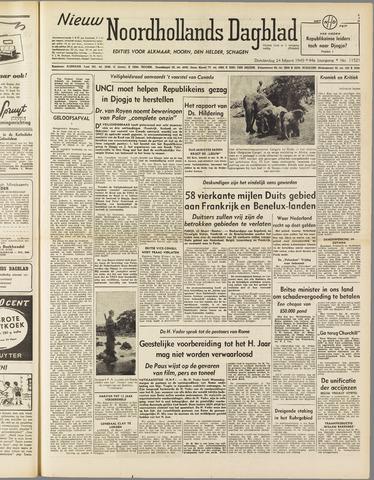Nieuw Noordhollandsch Dagblad : voor Alkmaar en omgeving 1949-03-24