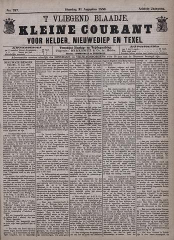 Vliegend blaadje : nieuws- en advertentiebode voor Den Helder 1880-08-31