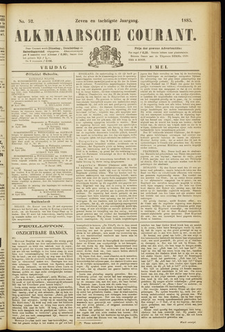 Alkmaarsche Courant 1885-05-01