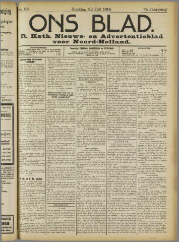Ons Blad : katholiek nieuwsblad voor N-H 1913-07-22