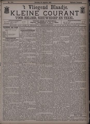 Vliegend blaadje : nieuws- en advertentiebode voor Den Helder 1887-08-20