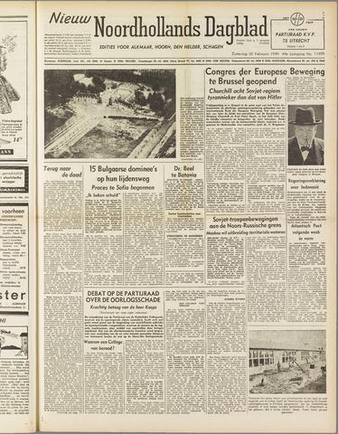 Nieuw Noordhollandsch Dagblad : voor Alkmaar en omgeving 1949-02-26