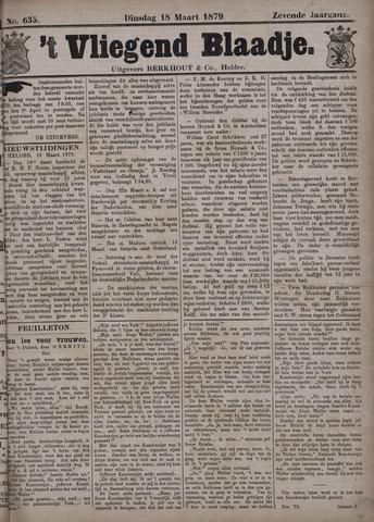 Vliegend blaadje : nieuws- en advertentiebode voor Den Helder 1879-03-18