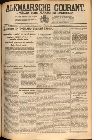 Alkmaarsche Courant 1939-09-13