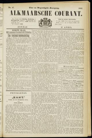 Alkmaarsche Courant 1892-04-17