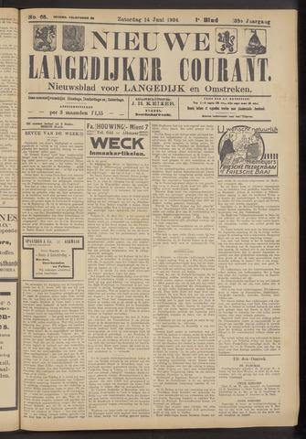 Nieuwe Langedijker Courant 1924-06-14