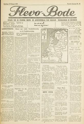 Flevo-bode: nieuwsblad voor Wieringen-Wieringermeer 1947-02-15