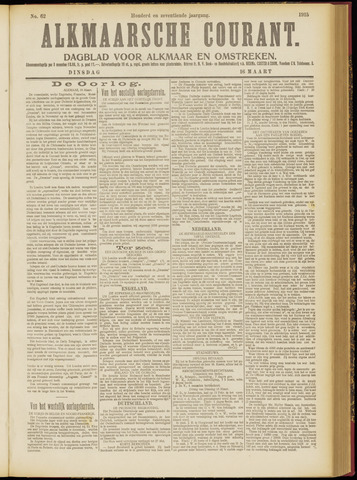 Alkmaarsche Courant 1915-03-16