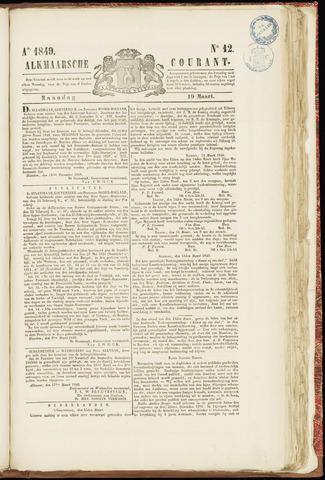 Alkmaarsche Courant 1849-03-19
