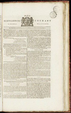 Alkmaarsche Courant 1829-11-30