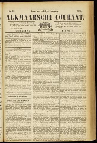 Alkmaarsche Courant 1885-04-01