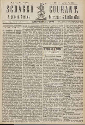 Schager Courant 1920-06-26