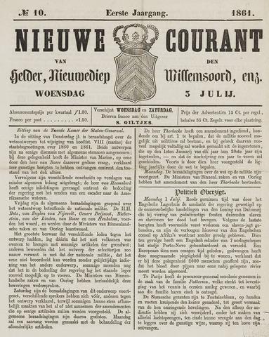 Nieuwe Courant van Den Helder 1861-07-03