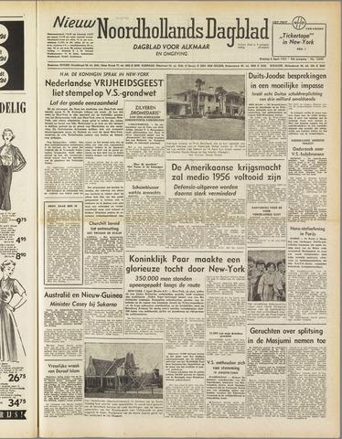 Nieuw Noordhollandsch Dagblad : voor Alkmaar en omgeving 1952-04-08