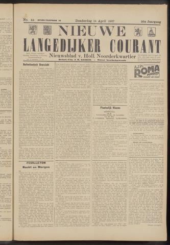 Nieuwe Langedijker Courant 1927-04-14