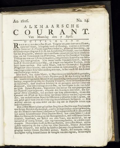 Alkmaarsche Courant 1806-04-07