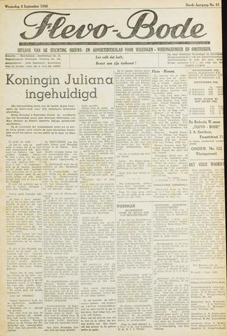 Flevo-bode: nieuwsblad voor Wieringen-Wieringermeer 1948-09-08