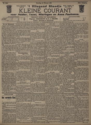 Vliegend blaadje : nieuws- en advertentiebode voor Den Helder 1908-02-22