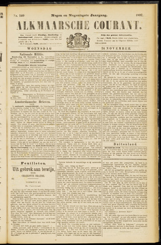 Alkmaarsche Courant 1897-11-24