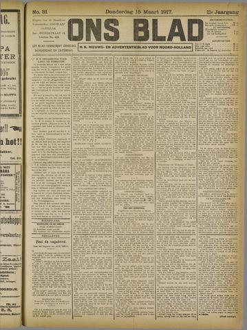 Ons Blad : katholiek nieuwsblad voor N-H 1917-03-15