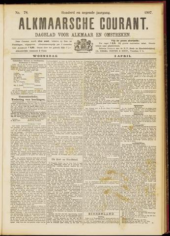 Alkmaarsche Courant 1907-04-03