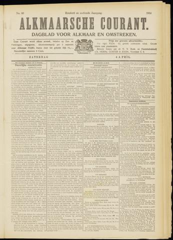 Alkmaarsche Courant 1914-04-04