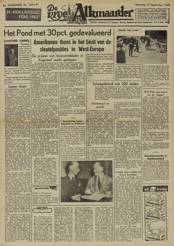 De Vrije Alkmaarder 1949-09-19