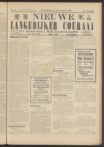 Nieuwe Langedijker Courant 1932-08-13