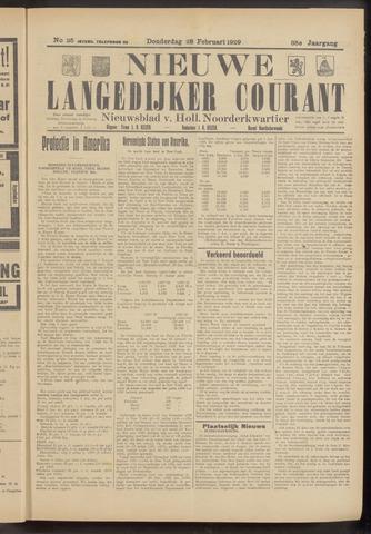 Nieuwe Langedijker Courant 1929-02-28