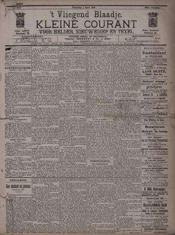Vliegend blaadje : nieuws- en advertentiebode voor Den Helder 1896-04-01