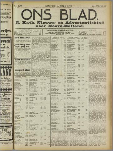 Ons Blad : katholiek nieuwsblad voor N-H 1913-09-13