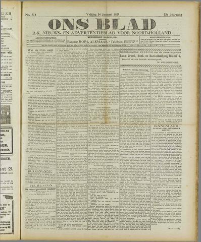 Ons Blad : katholiek nieuwsblad voor N-H 1921-01-14