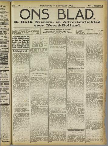 Ons Blad : katholiek nieuwsblad voor N-H 1912-11-07