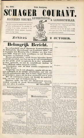Schager Courant 1881-10-02