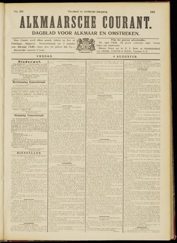 Alkmaarsche Courant 1911-08-04